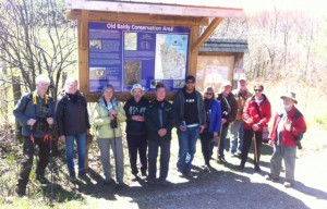 Stew Hilts (on right) and the Old Bald Wildflower Hike participants.