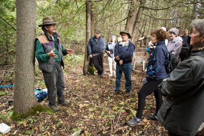 Robert Burcher explaining the economics of John Muir's time. (Photo by Brian Robin)