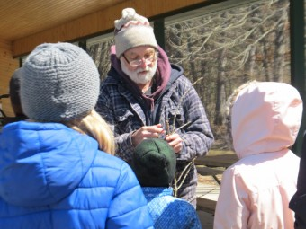 Bill Moses with Young Naturalists. (Photo By John Dickson)