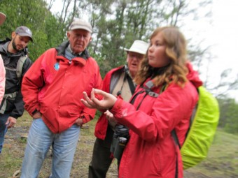 Esme Batten with guests at the NCC's Dwarf Lake Nature Reserve (Photo by John Dickson)