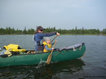 Leanne canoeing (photo by Brian Kinzie)