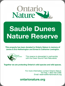 Sauble-Dunes-Reserve-Welcome-Sign