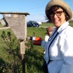 Beth Anne Currie turning the screws on a bird box (submitted by Donna Giesler)